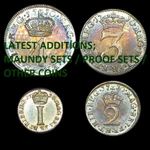 Maundy sets / Proof sets / Other coins for sale -- just arrived.
