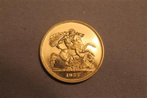 1937 George V1 Gold Proof set image 2